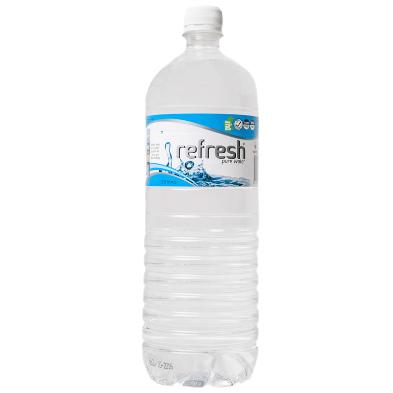 12 bottles of refresh pure water